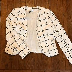 H&M checkered plaid Blazer